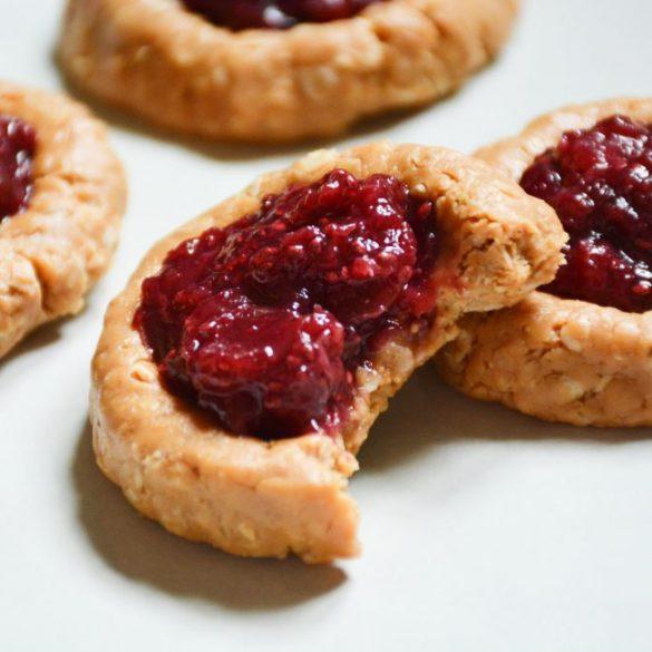 cherry-peanut-butter-thumbprint-cookies-no-bake